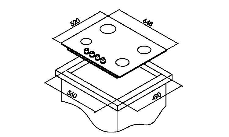 Simfer 3650 4G 65 Cm Siyah Ankastre Cam Ocak - Thumbnail
