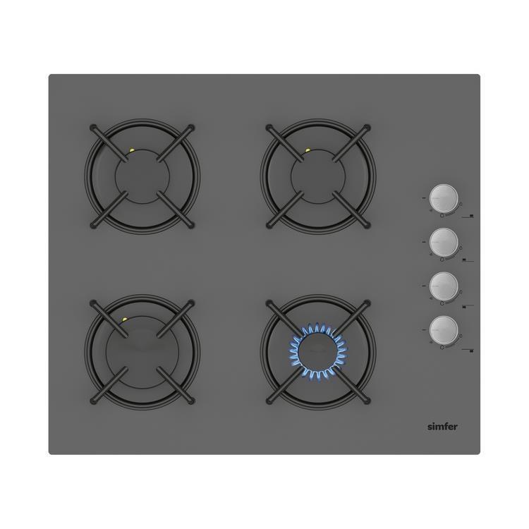 Simfer 6 Fonksiyon Silver Cam Ankastre Set (7334 Fırın + 3537 Ocak + 8613 Davlumbaz) - Thumbnail