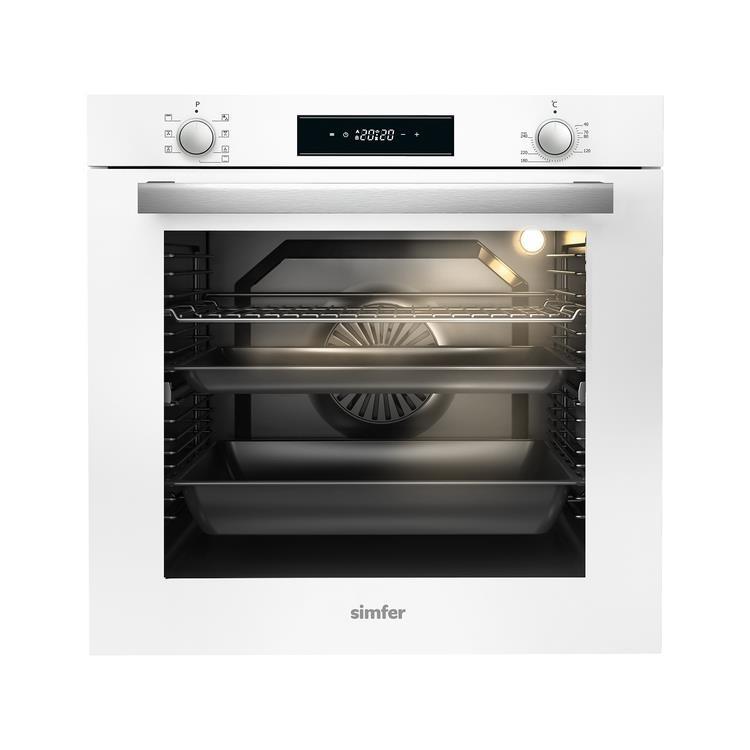 Simfer 80 lt XXL Beyaz Ankastre Set (7382 Fırın + 3651 Ocak + 8612 Davlumbaz) - Thumbnail