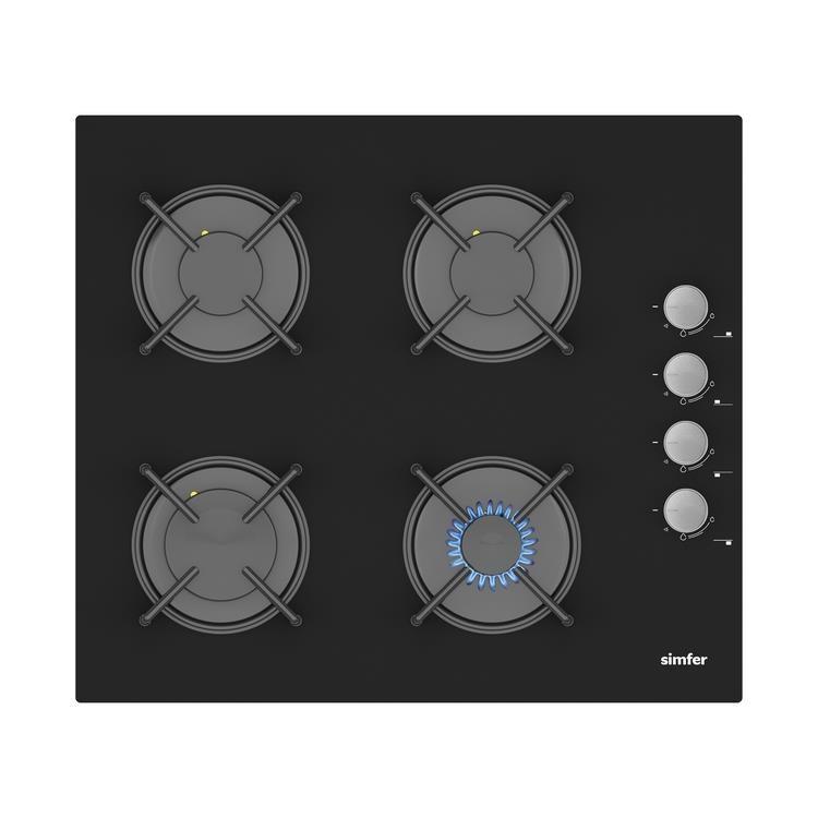 Simfer Ekonomik Siyah Cam Ankastre Set (7336 Fırın + 3500 Ocak + 9603 Davlumbaz) - Thumbnail