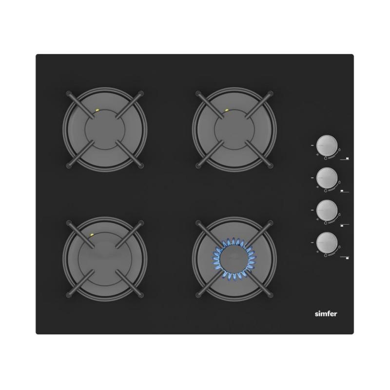 Simfer Siyah Cam 60 cm İkili Ankastre Set (3500 Ankastre Ocak + 8611 Davlumbaz)