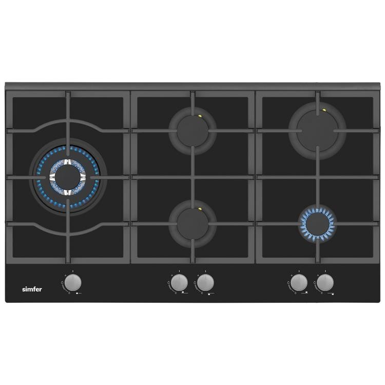 Simfer Yeni 90 Cm Siyah Ankastre Set (7392 Fırın + 3915 Ocak + 8911 Davlumbaz) - Thumbnail